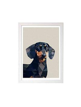 east-end-prints-dachshund-by-studio-cockatoo-a3-framed-wall-art