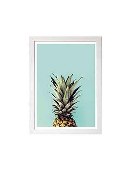 east-end-prints-pineapple-by-rafael-farias-a3-framed-wall-art