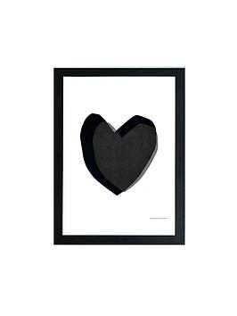 east-end-prints-black-heart-by-seventy-tree-a3-wall-art