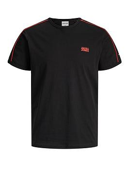 jack-jones-logo-tape-ringer-t-shirt-black
