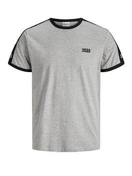jack-jones-logo-tape-ringer-t-shirt-grey