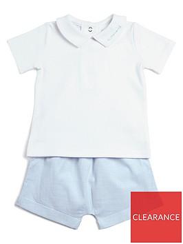 mamas-papas-baby-boys-woven-short-tee-set-blue