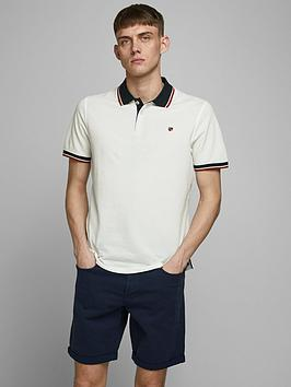 jack-jones-premium-melange-tipped-polo-shirt-white
