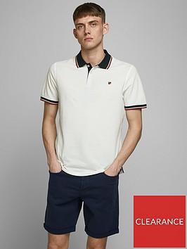 jack-jones-premium-melange-tipped-polo-shirt-white