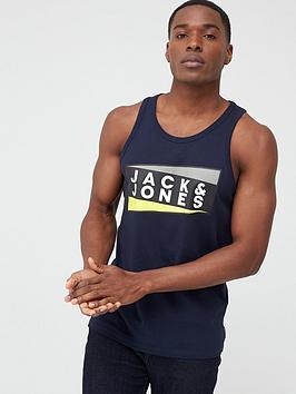 jack-jones-core-shaun-logo-vest-navy