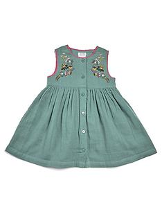 mamas-papas-baby-girls-cheesecloth-dress-green