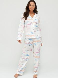 v-by-very-woven-button-through-pyjamas-cloud-print