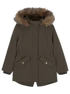 mintie-by-mint-velvet-girls-khaki-faux-fur-hooded-parka-dark-green