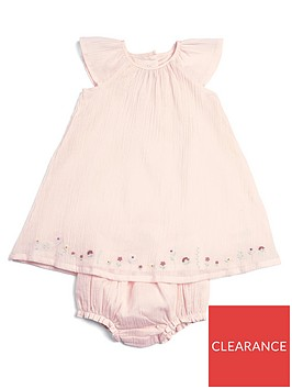 mamas-papas-baby-girls-embroidered-dresss-knickers-pink