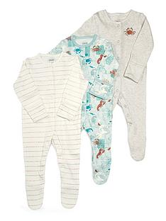 mamas-papas-baby-boys-3-pack-lobster-sleepsuits-multi