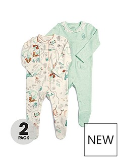 mamas-papas-baby-girls-2nbsppack-mermaid-sleepsuits-multi