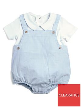 mamas-papas-baby-boys-mock-shortie-romper-blue