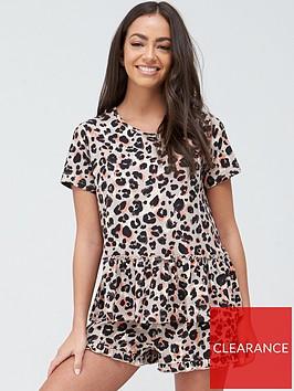 v-by-very-leopard-frill-short-pyjama-set-leopard