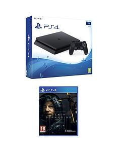playstation-4-ps4-1tb-black-slim-console-with-death-stranding-and-optional-extras