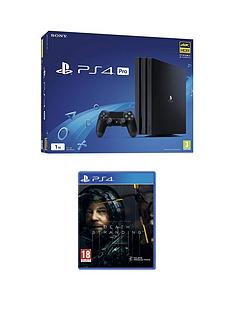 playstation-4-ps4-black-pro-bundle-with-death-stranding-and-optional-extras