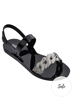 melissa-lip-links-two-strap-flat-sandals-black