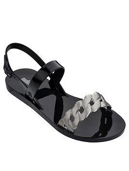 melissa-lip-links-two-strap-flat-sandals-black