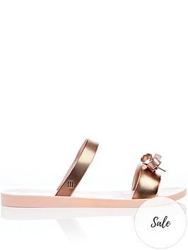 melissa-love-lip-metallic-bow-detail-slide-flip-flops-blush