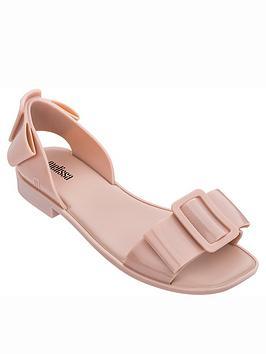 melissa-aurora-large-buckle-flat-sandals-pink
