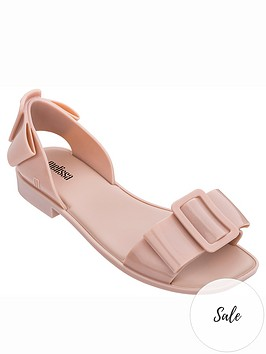 melissa-aurora-large-buckle-flat-sandals-pink