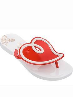 melissa-vivienne-westwoodnbspsun-heart-flip-flops-white