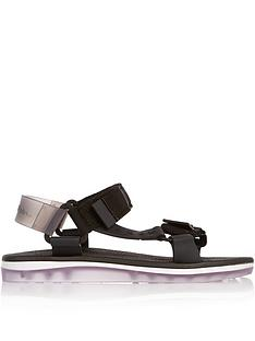 melissa-rider-papete-sporty-flat-sandals-black
