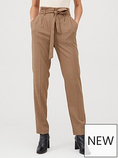 v-by-very-tie-waist-checked-trouser-brown-check
