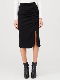 v-by-very-ruched-midi-skirt-black