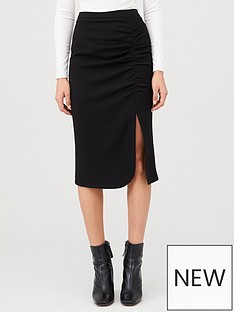v-by-very-ruched-midi-skirt-black