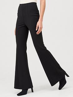 v-by-very-ponte-flare-trouser-black