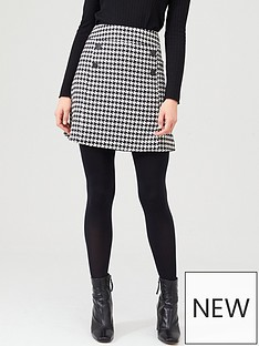 v-by-very-dogtooth-button-mini-skirt