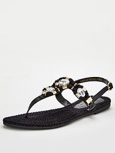 v-by-very-halo-leather-toe-post-embellished-sandal-black