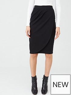 v-by-very-stretch-crepe-wrap-midi-skirt-black