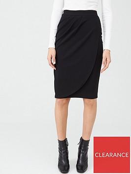 v-by-very-stretch-crepe-wrap-midi-skirt-black