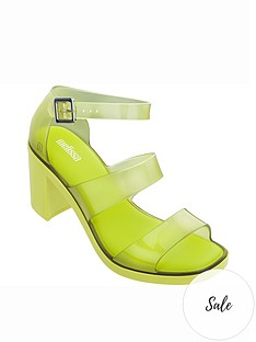 melissa-model-clear-strap-heeled-sandals-lime
