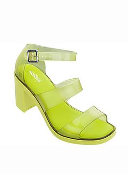 melissa-model-clear-strap-heeled-sandals-lime