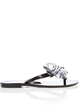 melissa-harmonic-sweet-special-bow-flip-flop-sandals-black