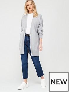 oasis-cotton-edge-to-edge-cardi-mid-grey