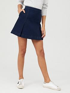 oasis-denim-kilt-mini-skirt-dark-wash