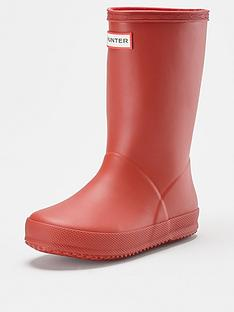 hunter-kids-first-classic-wellington-boot-red