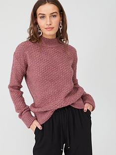v-by-very-textured-stitch-jumper-dusky-pink