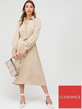 v-by-very-tie-waist-printed-shirt-dress-mono
