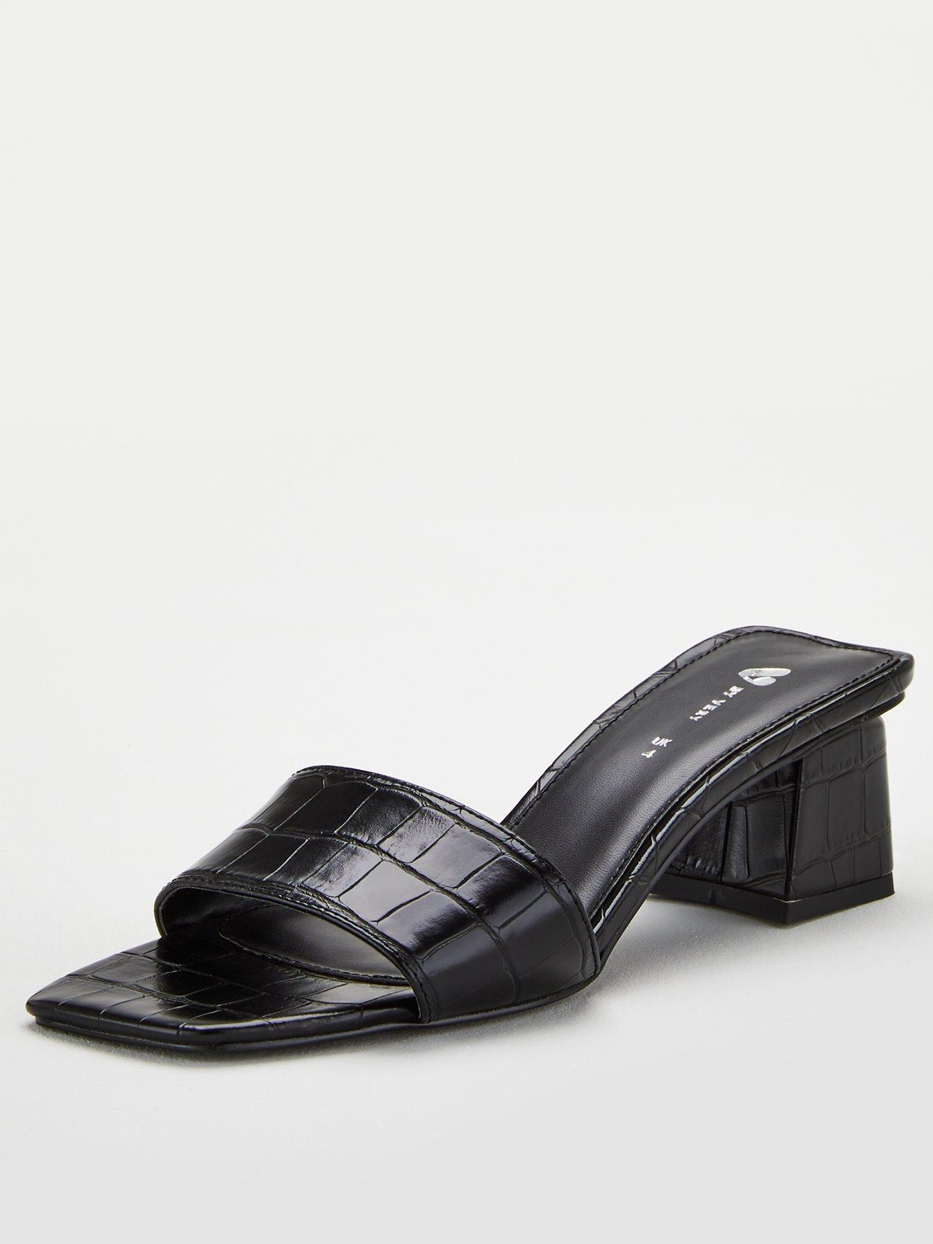 V by Very Braxton Square Toe Low Block