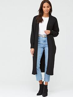 v-by-very-longline-balloon-sleeve-cardigan-black