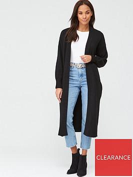 v-by-very-longline-balloon-sleeve-cardigan-black