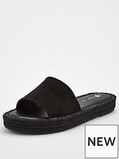 v-by-very-hydra-colour-flood-espadrille-slider-black