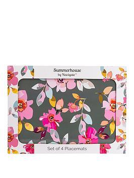 summerhouse-by-navigate-gardenia-grey-floral-placemats-ndash-set-of-4