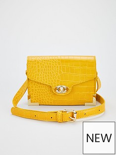 v-by-very-metal-trim-crossbody-bag-yellow