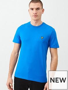lyle-scott-plain-t-shirt-cobalt