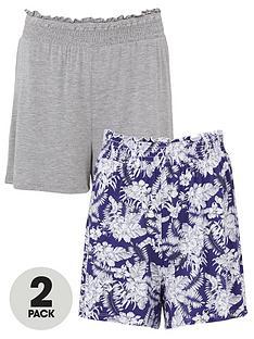 v-by-very-2-pack-shirred-hem-jersey-shorts-navy-printgrey